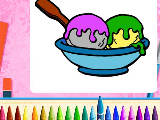 Online Ice Cream Coloring